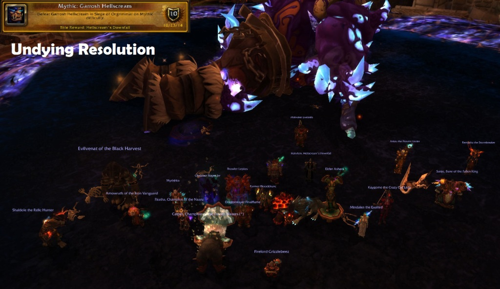 Mythic Garrosh Undying Resolution
