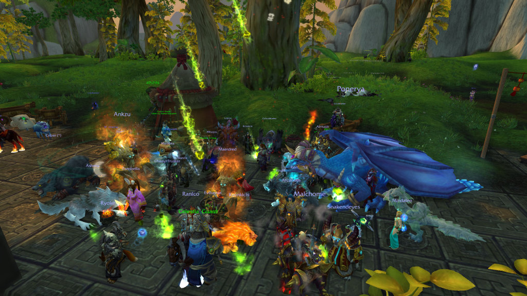 what's a guild party without druids on fire?